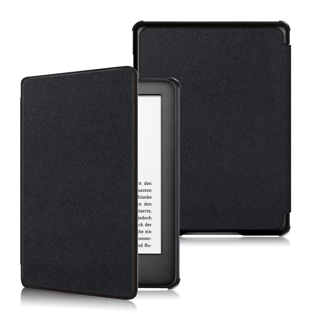 for Amazon All-New Kindle 10th Generation 6inc Cover, salaheiyodd Slim Lightweight Soft Leather Case Magnetic Clasp Cover Auto Sleep/Wake for Amazon All-New Kindle 10th Generation 6inch (Black)