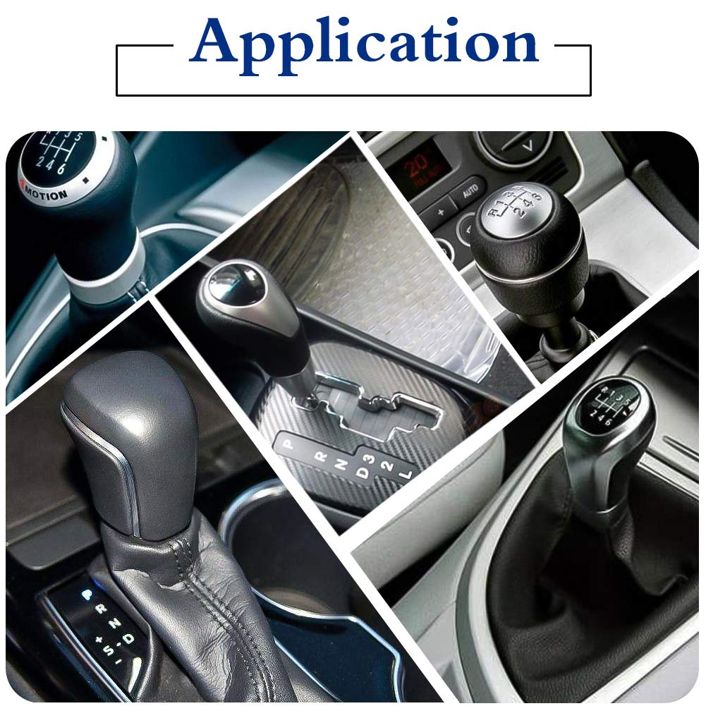 SpeeVech Shift knob Shifter Adapter Universal Aluminum Shifters for Non Threaded BMW//VW 12x1.25mm Blue