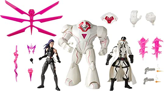 """Marvel Legends Series - X-Men 3 Pack - 6"""" Psylocke, Nimrod & Fantomex - Collectible Action Figures With 15 Accessories - Kids Toys & Collectible Figures - Ages 4+ (Amazon Exclusive)"""