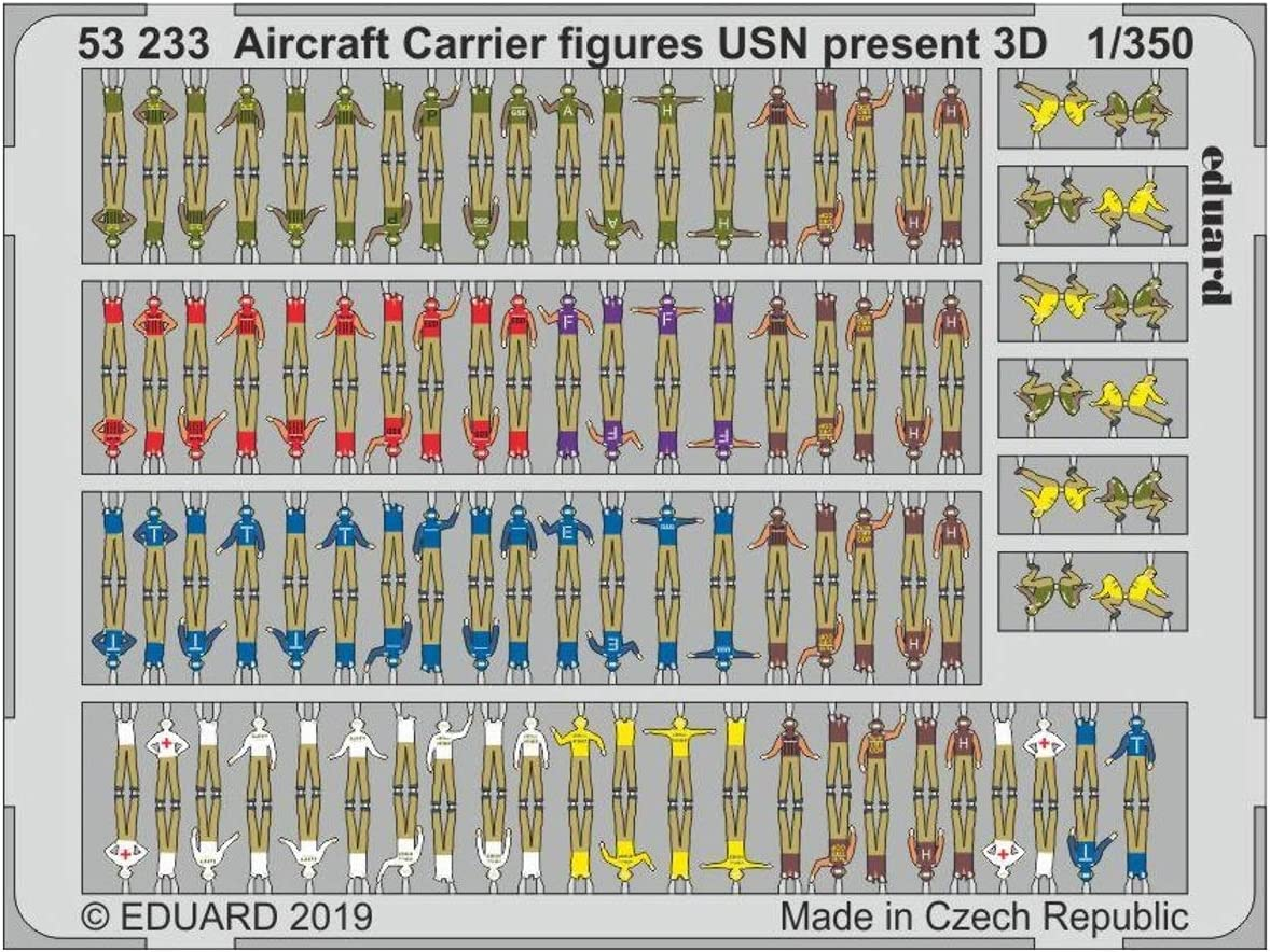 Carrier figures USN present 3D Eduard PhotoEtch 1:350