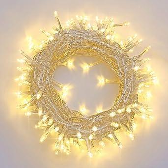 Weihnachtsbeleuchtung Mit Timer.Qedertek Led Lichterketten Strombetrieben 20m 200 Led Warmeiß 8 Modi Weihnachtsbeleuchtung Mit Timer Für Weihnachten Party Garten Hochzeit