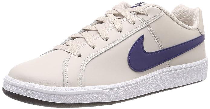 Nike Court Royale Sneakers Herren Weiß (Desert Sand) mit blauen Streifen