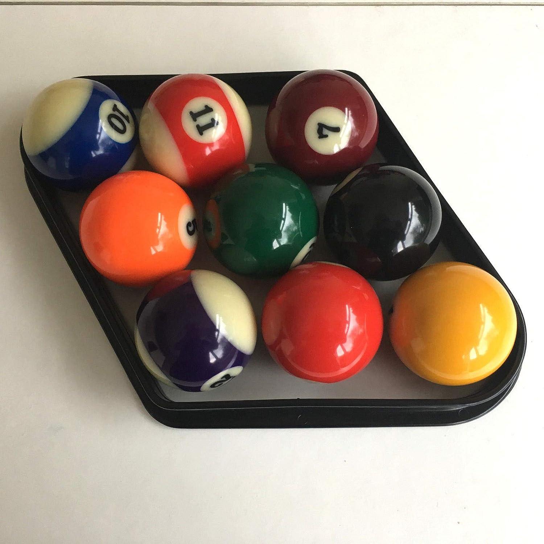 9 bolas de plástico NEGRO American Pool Diamante por 57 mm bolas ...