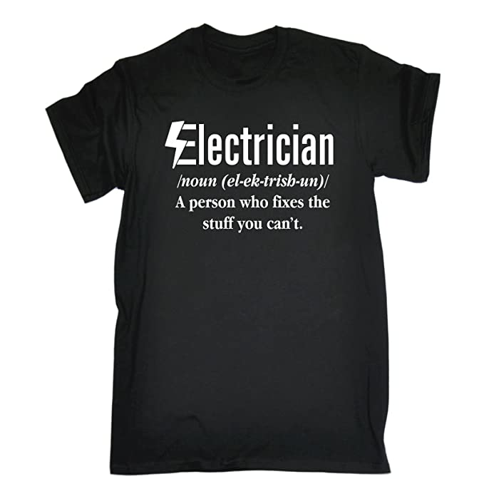 3bcc2070d 123t Men's Electrician Fixes The Stuff You Can't Funny t-Shirt Sarcasm tee