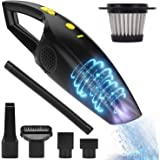 TOOGOO Rechargeable Cordless Handheld Vacuum, Powerful Car Hand Vacuum Cleaner, 2200Mah Lithium Battery Portable Vacuum for Cars, Home and Office Wet/Dry Cleaning (12V 120W)