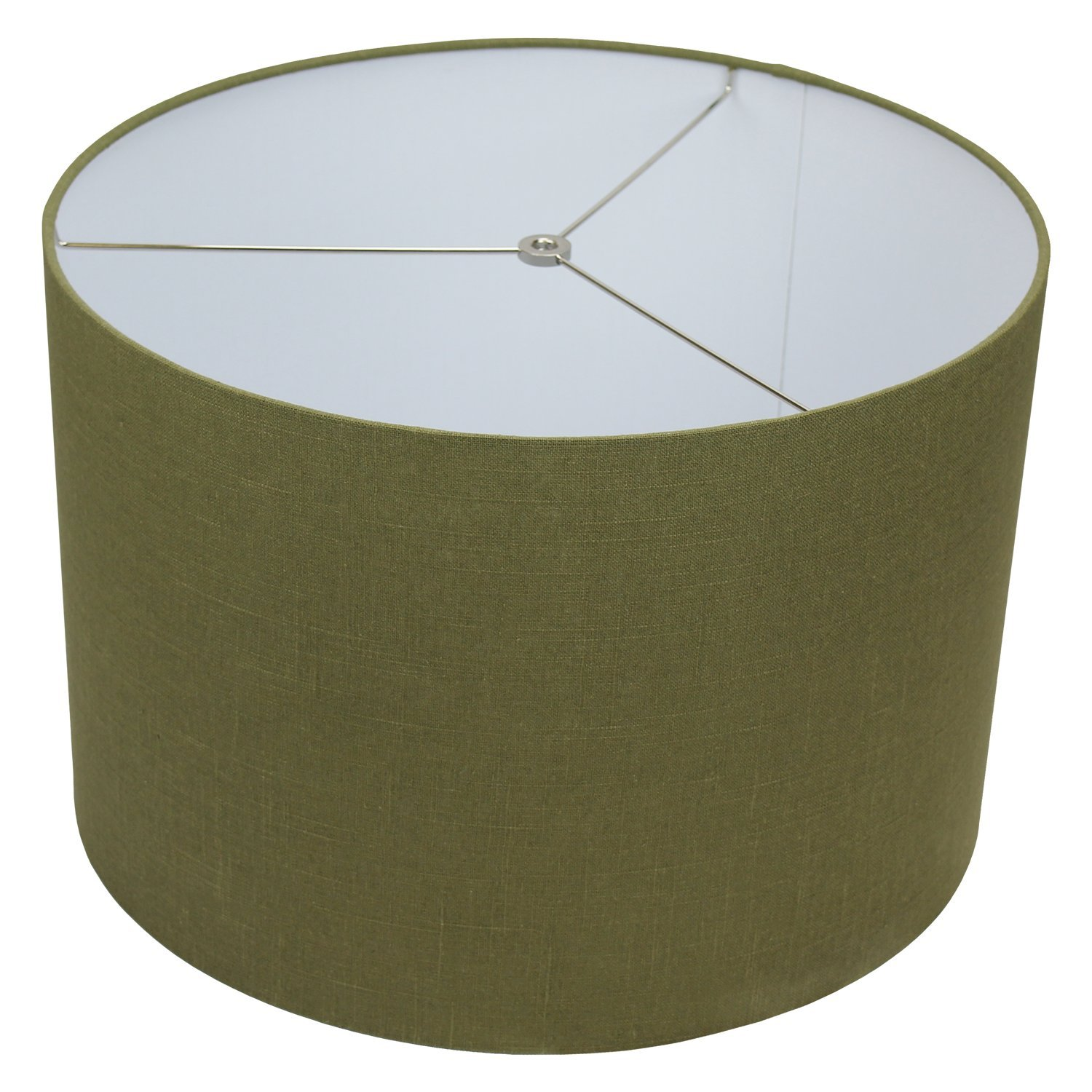 FenchelShades.com 18'' Top Diameter x 18'' Bottom Diameter 12'' Height Cylinder Drum Lampshade USA Made (Designer Frog)