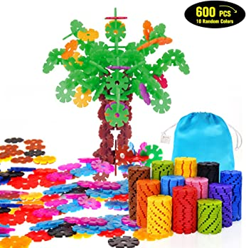 Geekper 600Pcs Building Blocks Brain Flakes Set Education Toys
