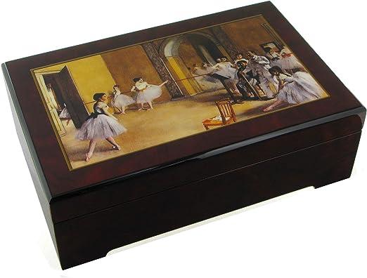 Caja de música para joyas / joyero musical de madera con bailarina ...
