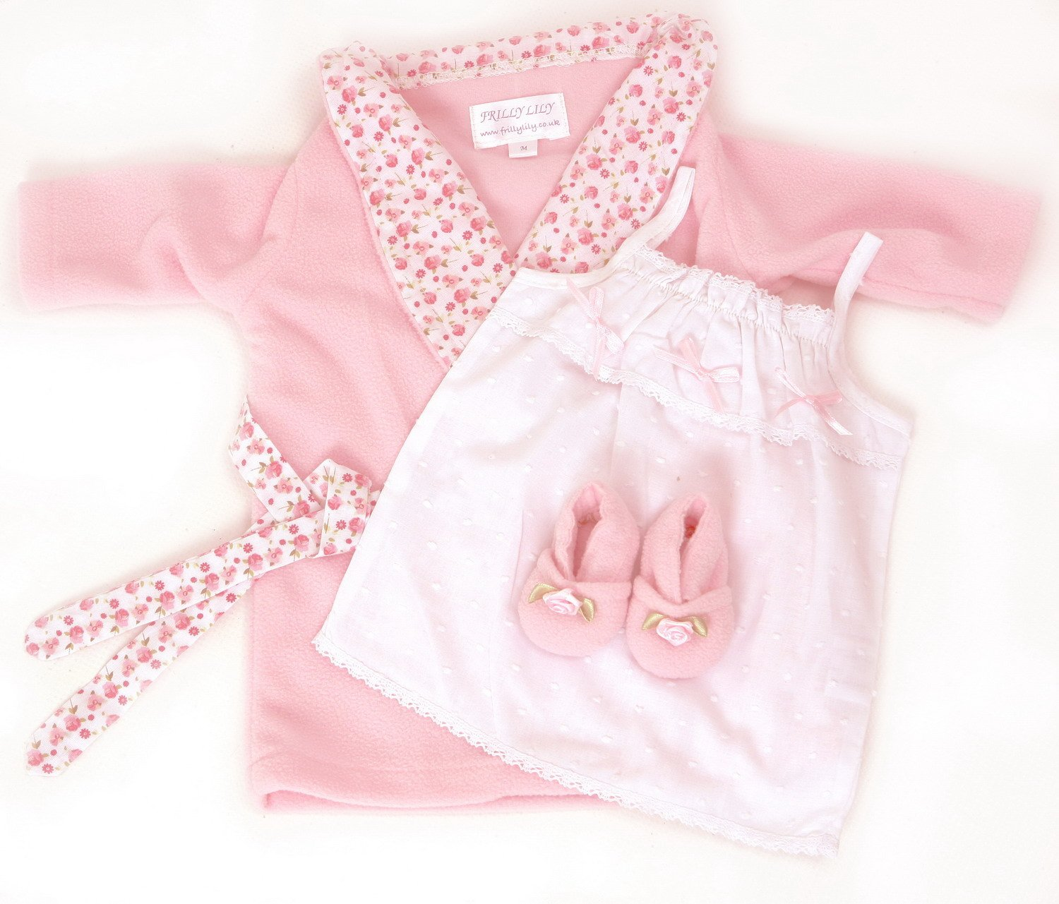 DOLLS WRAP DRESSING GOWN , NIGHTDRESS AND SLIPPERS NIGHT TIME ...