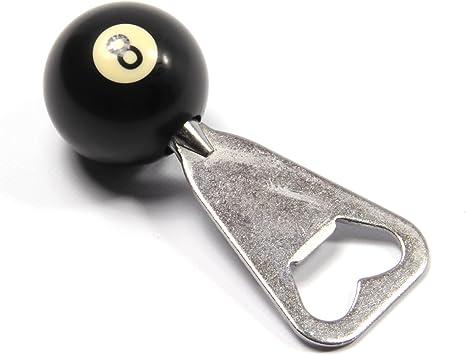 Funky Chalk Pool Ball Bottle Opener Black 8-Abrebotellas de Billar, Unisex Adulto: Amazon.es: Deportes y aire libre