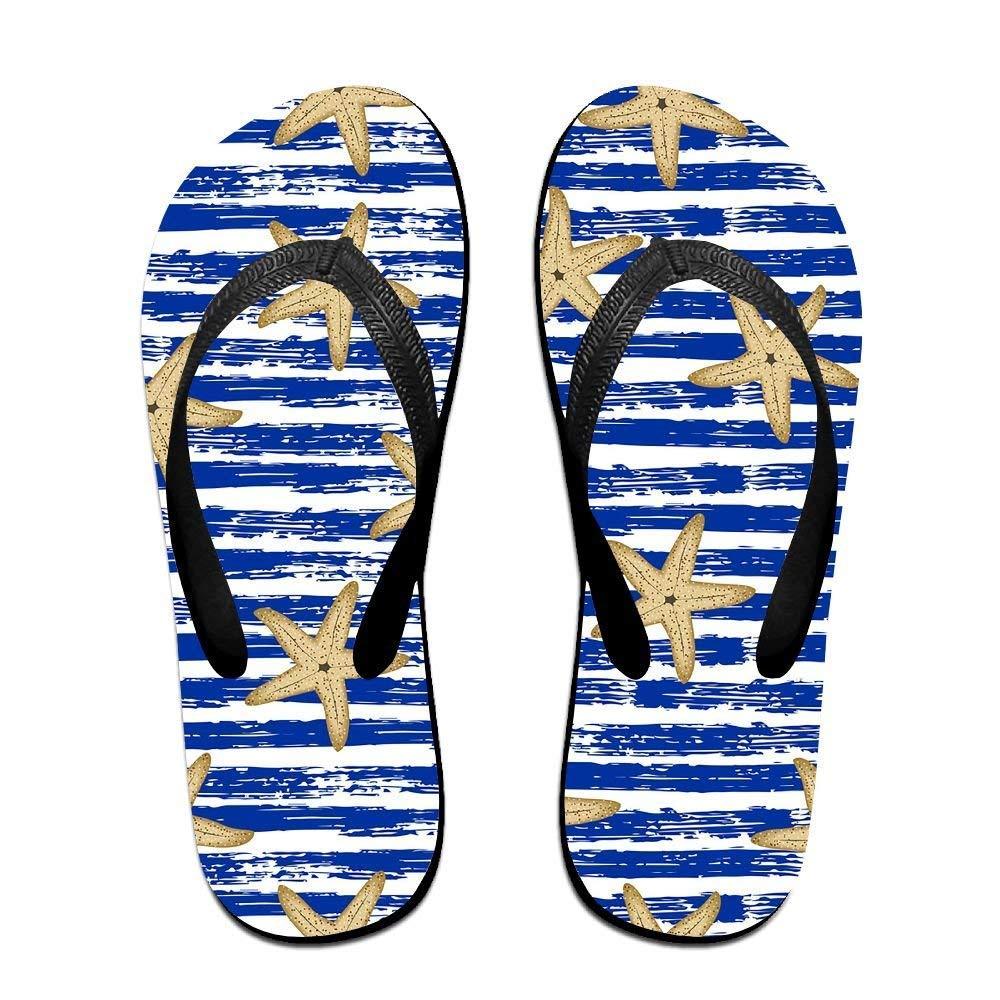 Kelysun Summer Beach Sanls Starfish Stripes Comfortable Flip-Flop Multiple Sizes Unisex
