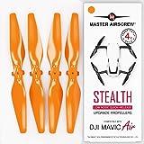 MAS Upgrade Propellers for DJI Mavic AIR in Orange - x4 in Set