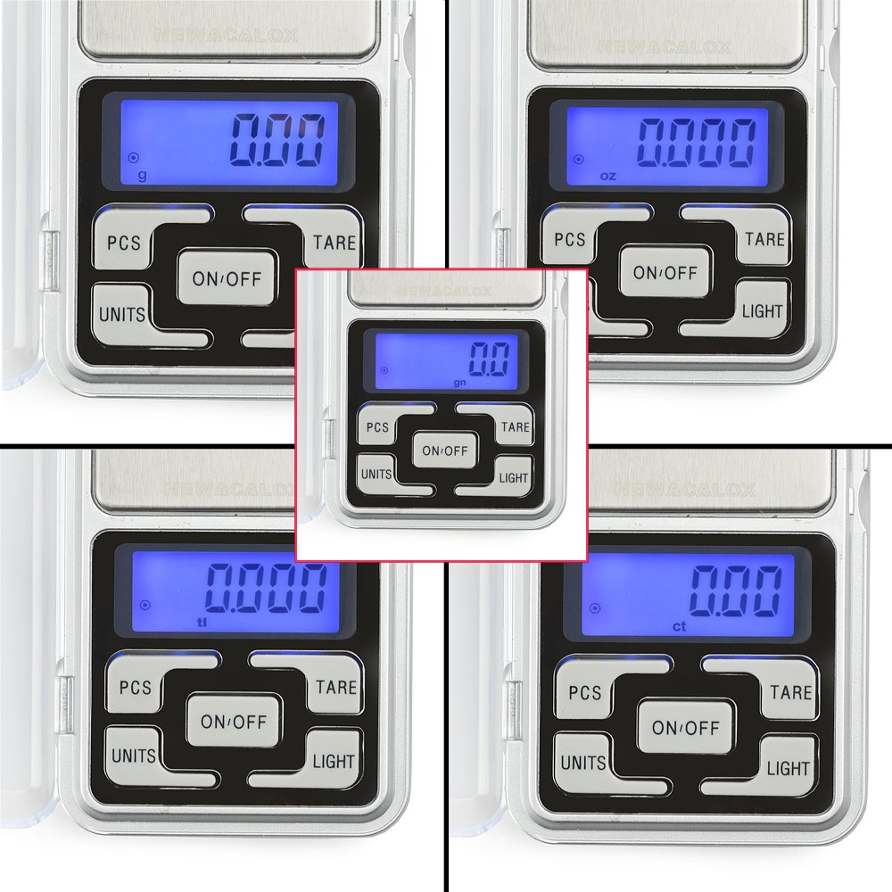 High Accuracy Mini Electronic Digital Pocket Scale Jewelry Diamond Gold Coin Calibration Weighing Balance Portable 500G/0.01G Counting Function Blue LCD by Simerst (Image #3)