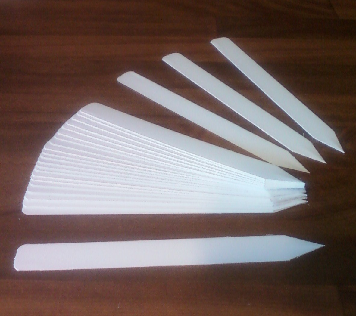 1000 6'' x 5/8'' White plastic plant stake labels tag pot marker