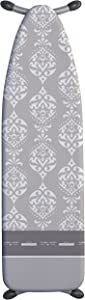 """Laundry Solutions by Westex Intricate European Ironing Board Cover and Pad, 15"""" X 54"""", Grey"""