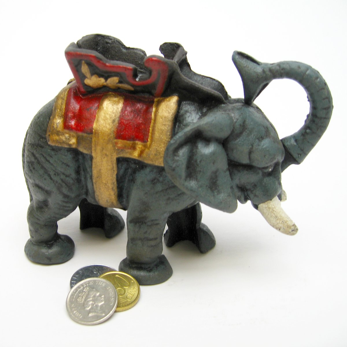 Design Toscano Circus Elephant Collectors' Die Cast Iron Mechanical Coin Bank by Design Toscano (Image #3)