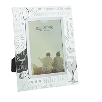 Ukgiftstoreonline 60th Diamond Wedding Anniversary Photo Frame New