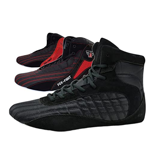 FOX-FIGHT FF2911, Scarpe da Wrestling Uomo, Nero (Nero), 41 EU