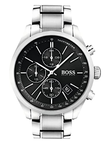 6c1387f5929d7 HUGO BOSS Men s Analogue Quartz Watch with Leather Strap - 1513477   Amazon.co.uk  Watches