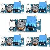 HiLetgo® 5個セット 2A DC-DC ブーストステップアップ 転換モジュール Micro USB 2V-24V to 5V-28V 9V 12V 24V