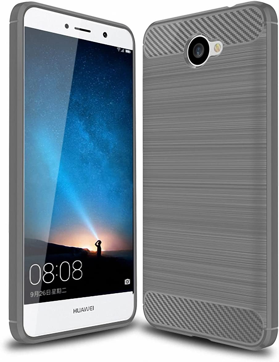 Huawei Ascend XT 2 Case SunYu Frosted Shield Luxury Matte Plastic Slim and Anti-Scratch and Non-Slip Case Cover for Huawei Ascend XT2 Phone (Grey)