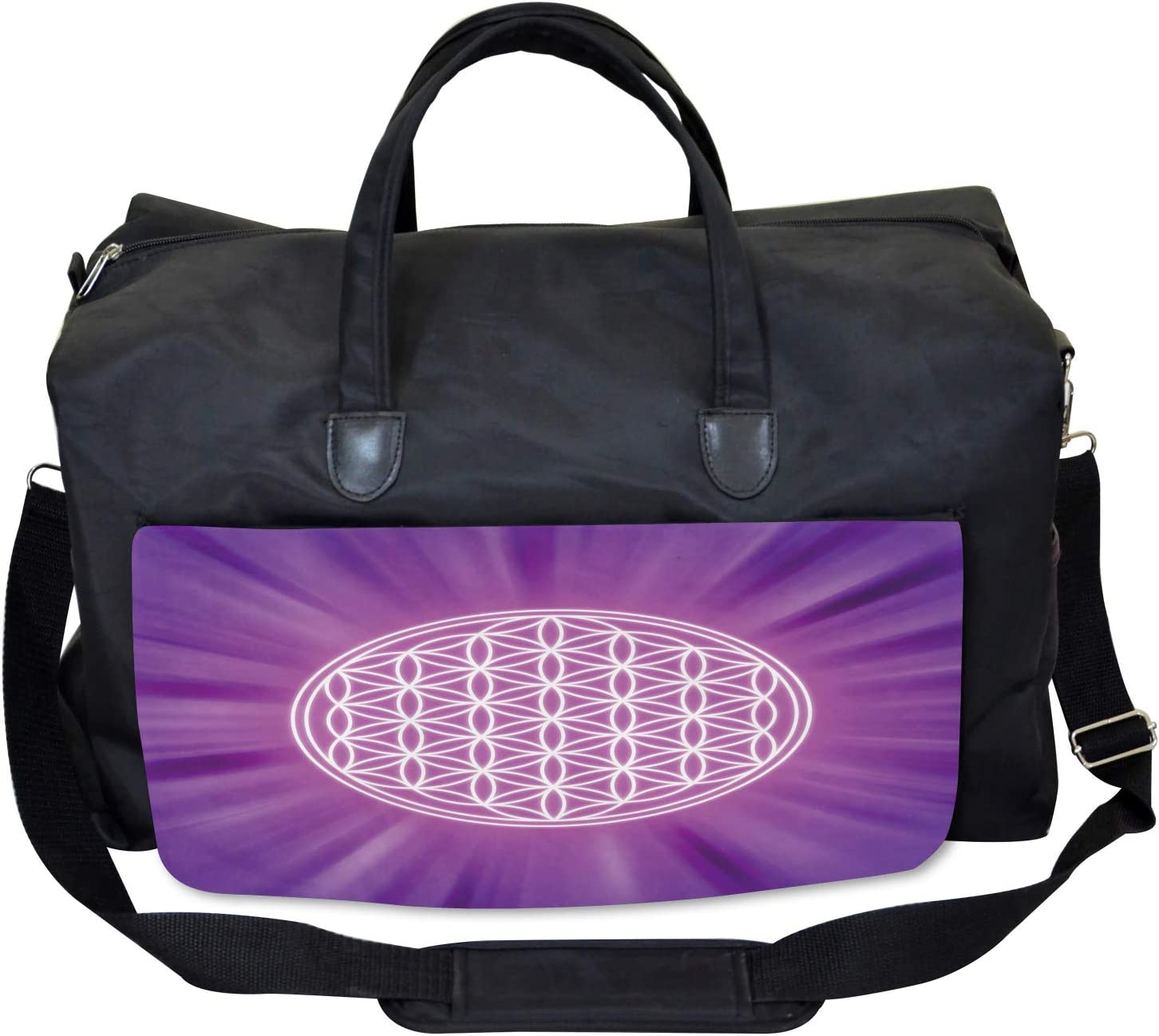 Ambesonne Sacred Geometry Gym Bag Large Weekender Carry-on Overlap Circles