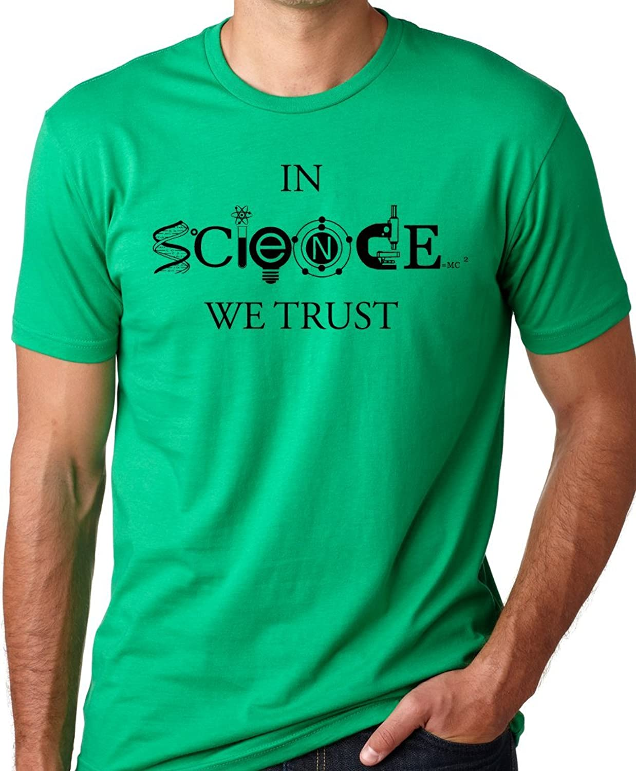 Amazon.com: In Science We Trust Cool T-Shirt Funny Atheist Tee ...