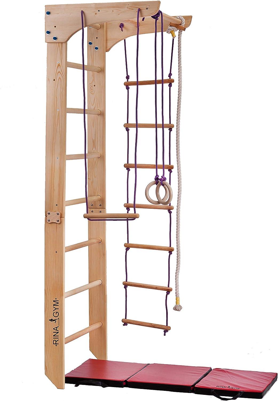 RINAGYM GmbH Escalera sueca barras de pared Kinder-2-220, gimnasia de los niños en casa, complejo deportivo de gimnasia: Amazon.es: Deportes y aire libre