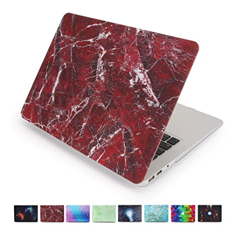 golp- Macbook Air de 11,6/13 pulgadas Case Cover – nuevo arte moda funda carcasa rígida para Macbook Air 11,6/13 inch Caso Red marble 11,6 pulgadas