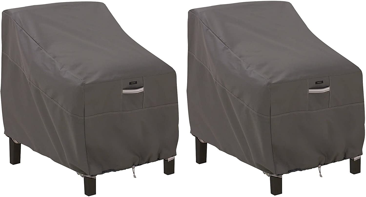 Classic Accessories Ravenna Patio Deep Seat Lounge Chair Cover 2-Pack