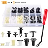 GOOACC 166 Pcs Car Retainer Clips &Screw Grommets - 12 Most Popular Sizes & Applications for GM, Toyota, Honda, Nissan…