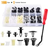 GOOACC 166 Pcs Car Retainer Clips &Screw Grommets - 12 Most Popular Sizes & Applications for GM Toyota Honda Nissan…