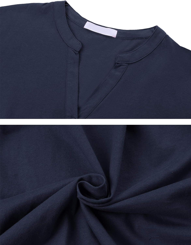 Nachtw/äsche Damen Pyjama Kurz Zweiteilige Schlafanzug Sleepwear Sets Sleepshirt Nachtw/äsche mit /Ärmlos Tanktop und Shorts