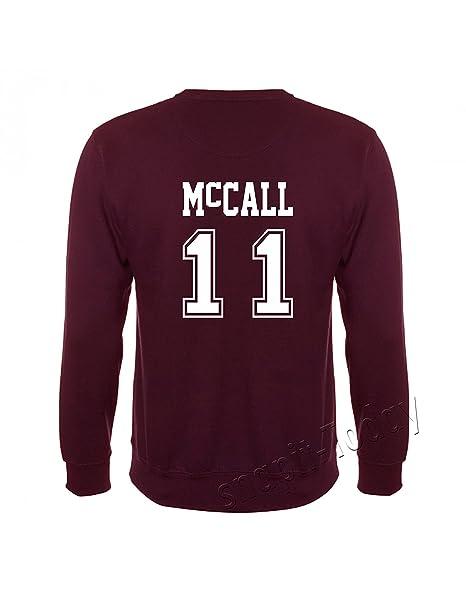 Sudadera de Lacrosse de Beacon Hills, de la serie Teen Wolf Marrón McCall 11 Small: Amazon.es: Ropa y accesorios