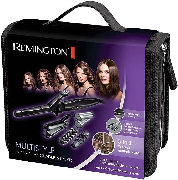 Remington Multistyle Rizador de Pelo, Negro: Amazon.es: Salud y cuidado personal