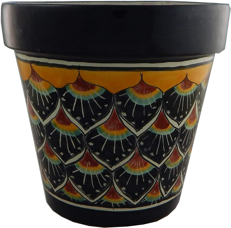 Mexican Talavera Planter Ceramic Flower Pot Folk Art Pottery Garden Handmade # 32