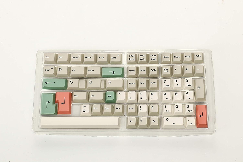 HK Gaming Teclas de sublimación de tinte | Perfil de cereza | Teclas PBT gruesas para teclado mecánico (139 teclas, 9009)