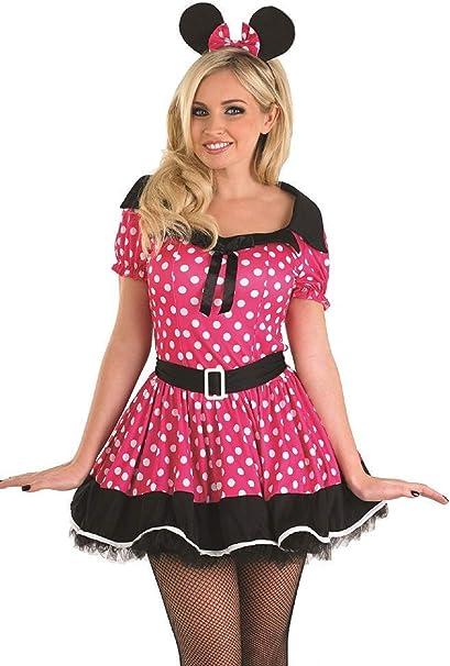 Fancy Me Traje de Neopreno para Mujer de Color Rosa Missy Disfraz ...