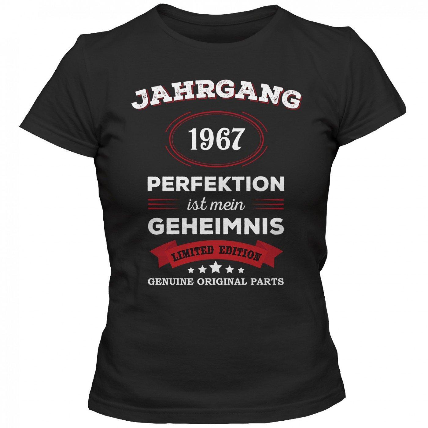 Jahrgang 1967 T-Shirt | Geburtstags-Shirt | Perfektion ist Mein Geheimnis |  50. Geburtstag | Frauen | Shirt: Amazon.de: Bekleidung
