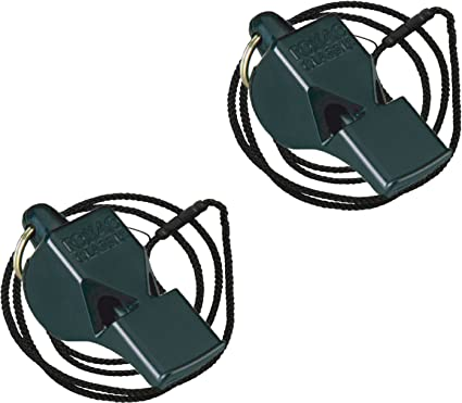 New Fox 40 Classic Sports Referee Metal Whistle With Lanyard Emergency Survival