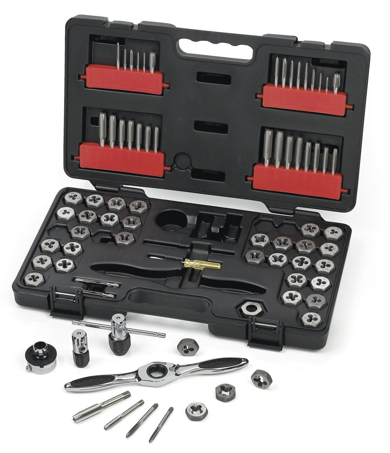 GearWrench 75PC 3887 Ratcheting Tap and Die Drive Tool Set SAE/Metric