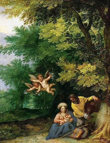 JH Lacrocon Jan Brueghel el Viejo - Descanso En Huida A ...