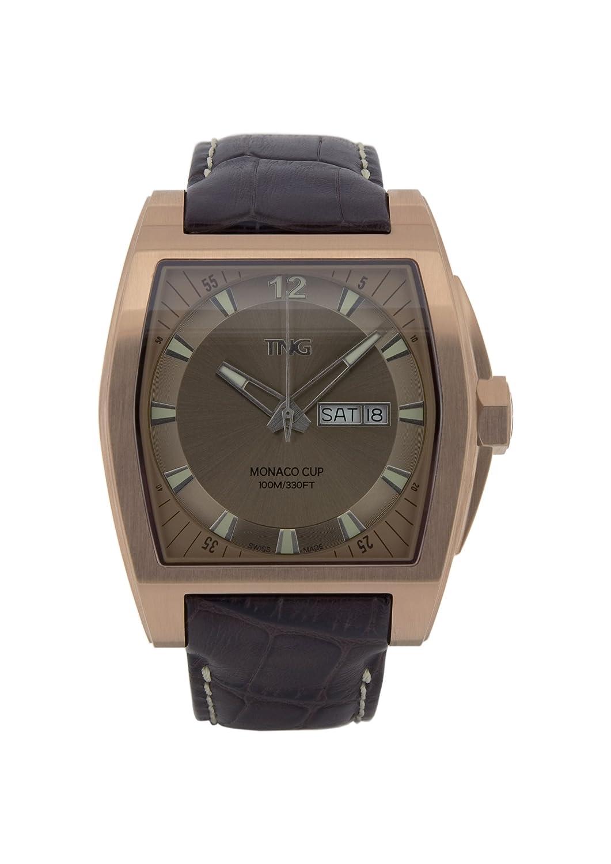 TNG Herren-Armbanduhr Analog Leder Braun TG667.30572.05PV
