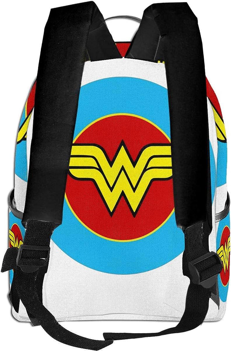 Pasdokzxc Backpack Travel Wonder Woman School Bags Shoulder Laptop Backpack Men Ladies Girls Schoolbags