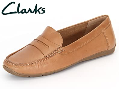 1995a292607f11 clarks ladies active air hill-side tan leather pumps uk sizes 4.5