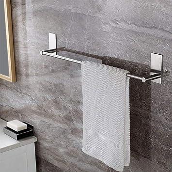 WHSIN - Toallero de pared con barra autoadhesiva para colgar toallas de baño, ducha,
