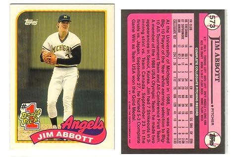 Amazoncom Jim Abbott Topps Tiffany Draft Pick Baseball Card Rare