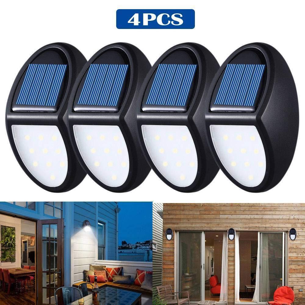 produttori fornitura diretta 10 LED Lampade da Parete Impermeabili - Mini Mini Mini Solar Light Motion Sensor Sicurezza Outdoor Path Path Fence Walkway Lighting,Confezione da 4  Nuova lista