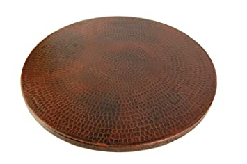 Good Premier Copper Products LS20DB 20 Inch Hand Hammered Copper Lazy Susan, Oil  Rubbed Bronze