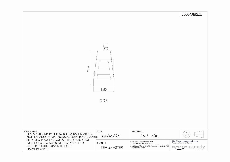 Amazon.com: sealmaster, np-12, dos Bolt Pillow Block Bearing ...